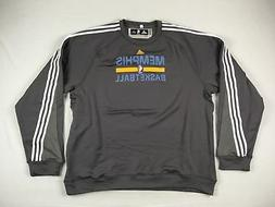 NEW adidas Memphis Grizzlies - Gray Poly Pullover